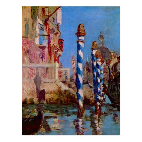 Grand Canal in Venice by Edouard Manet Postcard