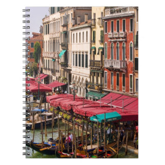 Grand Canal of Venice Italy with gondola boats Notebook