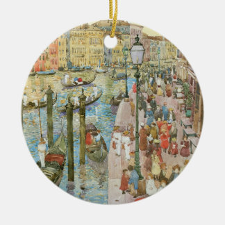 Grand Canal, Venice by Maurice Prendergast Round Ceramic Decoration