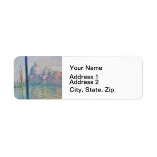 Grand Canal Venice by Monet Return Address Label