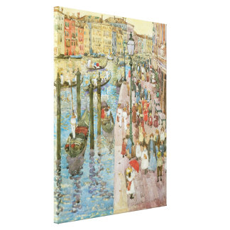 Grand Canal, Venice by Prendergast, Vintage Art Gallery Wrap Canvas