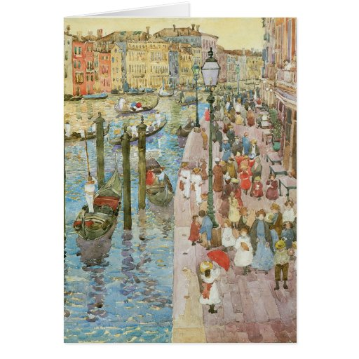 Grand Canal, Venice by Prendergast, Vintage Art Greeting Card