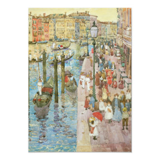 Grand Canal, Venice by Prendergast, Vintage Art Personalized Invites