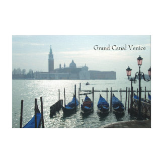Grand Canal Venice Gondolas Canvas Print