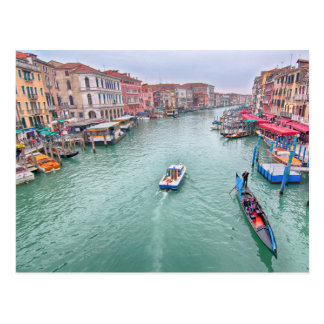 Grand Canal, Venice Italy Postcard