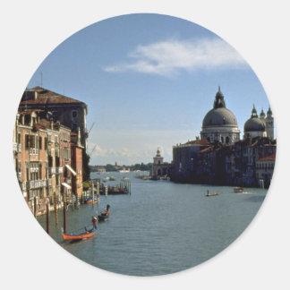 Grand Canal Venice Italy Round Sticker