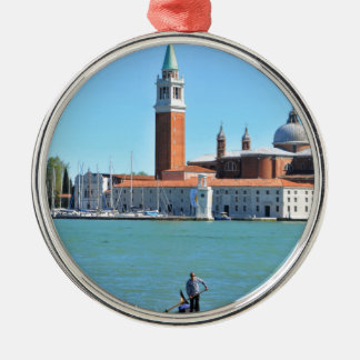 Grand Canal, Venice, Italy Silver-Colored Round Decoration