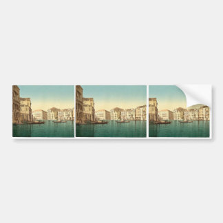 Grand Canal, Venice, Italy vintage Photochrom Bumper Sticker