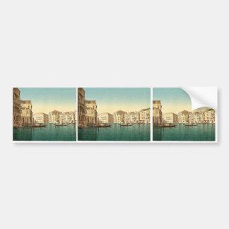 Grand Canal, Venice, Italy vintage Photochrom Bumper Sticker