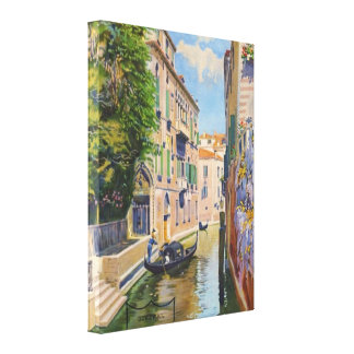 Grand Canal Venice Italy Vintage Travel Canvas Print