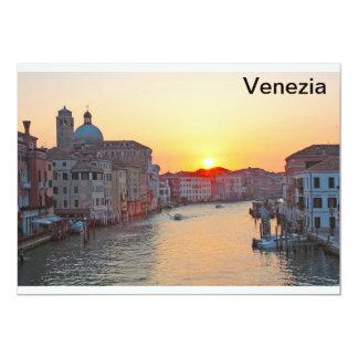 Grand canal Venice - sunrise 13 Cm X 18 Cm Invitation Card