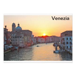 Grand canal Venice - sunrise Invite