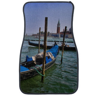 Grand Canal water with gondalo boats lined up Car Mat