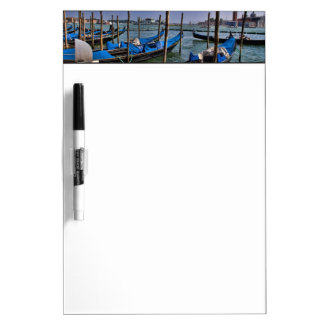 Grand Canal water with gondalo boats lined up Dry Erase Board