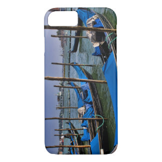 Grand Canal water with gondalo boats lined up iPhone 8/7 Case