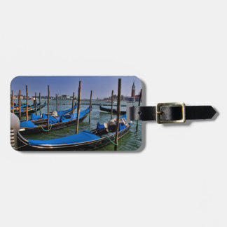 Grand Canal water with gondalo boats lined up Luggage Tag