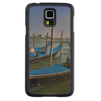 Grand Canal water with gondalo boats lined up Maple Galaxy S5 Slim Case