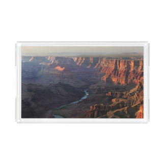 Grand Canyon and Colorado River in Arizona Acrylic Tray