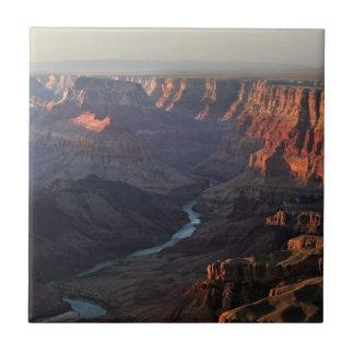Grand Canyon and Colorado River in Arizona Small Square Tile