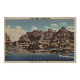 Grand Canyon, Arizona - Boulder Dam Area Print