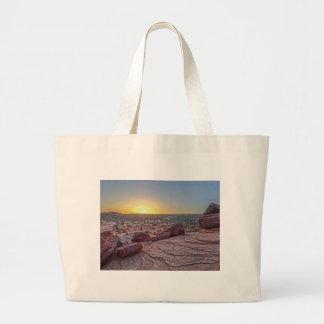 Grand Canyon desert in Arizona with sunset Jumbo Tote Bag