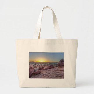 Grand Canyon desert in Arizona with sunset Large Tote Bag