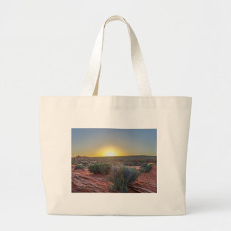 Grand Canyon desert with sunset in Arizona Large Tote Bag