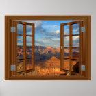 Grand Canyon Fake Faux Window View USA Poster
