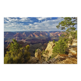 Grand Canyon from the south rim at sunset, 3 Photographic Print