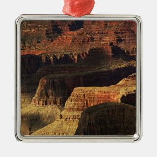 Grand Canyon from the south rim at sunset, 4 Silver-Colored Square Decoration