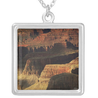 Grand Canyon from the south rim at sunset, 4 Silver Plated Necklace