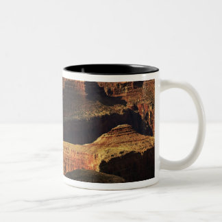 Grand Canyon from the south rim at sunset, 4 Two-Tone Coffee Mug