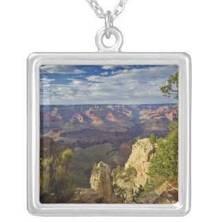 Grand Canyon from the south rim at sunset, 6 Silver Plated Necklace
