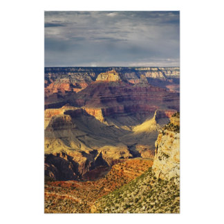 Grand Canyon from the south rim at sunset, Photo Print