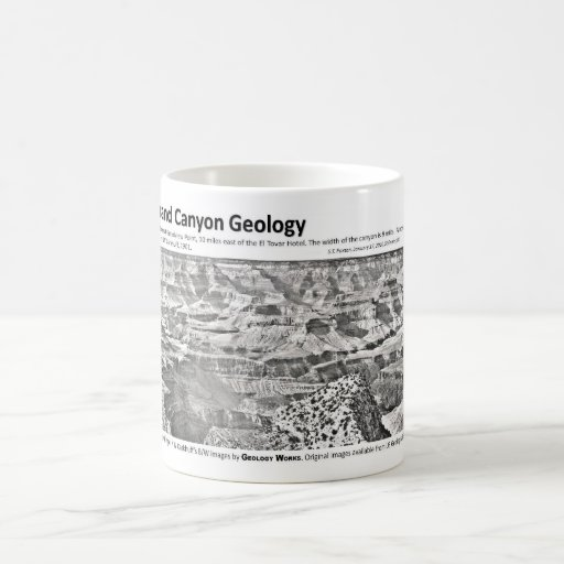 Grand Canyon II - Geology Pioneers Basic White Mug