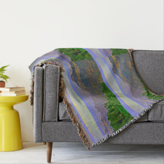 Grand Canyon In Cartoon Throw Blanket