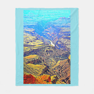 Grand Canyon in Pastel Fleece Blanket