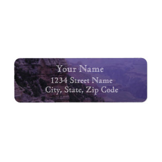 Grand Canyon in Purple Address Labels