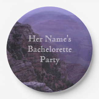 Grand Canyon in Purple Paper Plate
