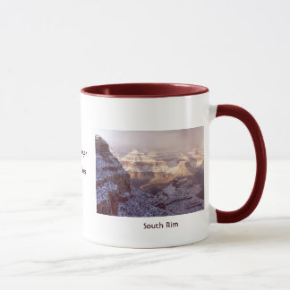 Grand Canyon in winter snow. Mug