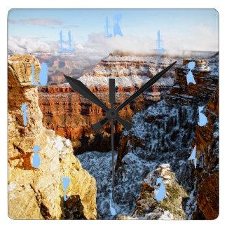 Grand Canyon National Park, Arizona, USA Square Wall Clock