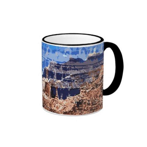 Grand Canyon National Park Retro Design Mug