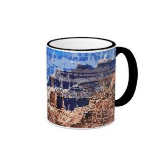 Grand Canyon National Park Retro Design Ringer Mug