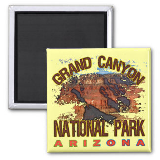 Grand Canyon National Park Square Magnet