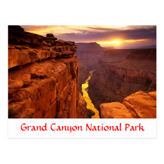 Grand Canyon National Park Sunset Arizona Postcard