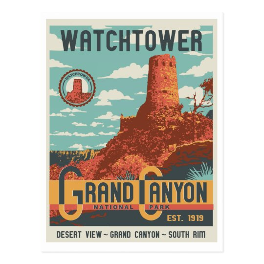 Grand Canyon National Park Watchtower Postcard
