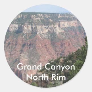 Grand Canyon North Rim Classic Round Sticker