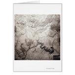 Grand Canyon of Colorado and UtahPanoramic Map Greeting Card