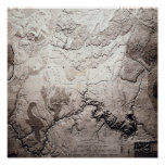 Grand Canyon of Colorado and UtahPanoramic Map Poster
