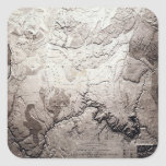 Grand Canyon of Colorado and UtahPanoramic Map Square Sticker